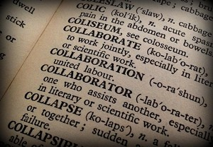 Collaboration Dictionary Book Collaborator Words