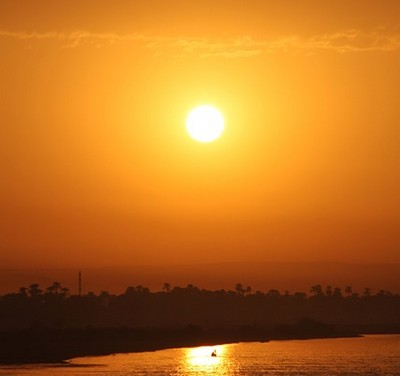 Beautiful Sun Egypt Nil Sunset River