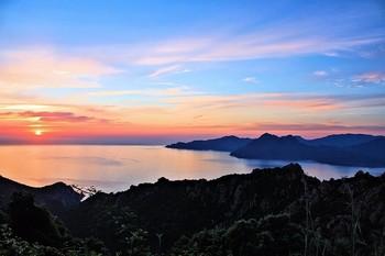 Sunset Corsica Sea Abendstimmung Sun