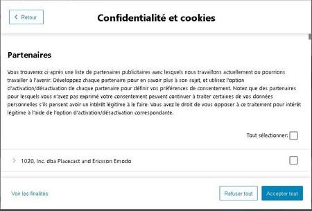 3. Capture cookies partenaires